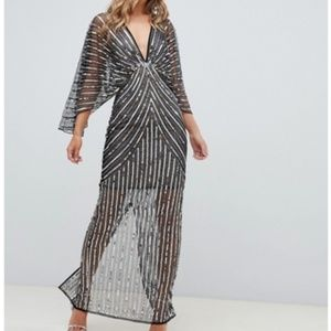 OMG AMAZING asos linear sequin kimono maxi dress